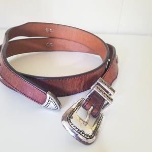 Vintage Greg Norman Leather Belt